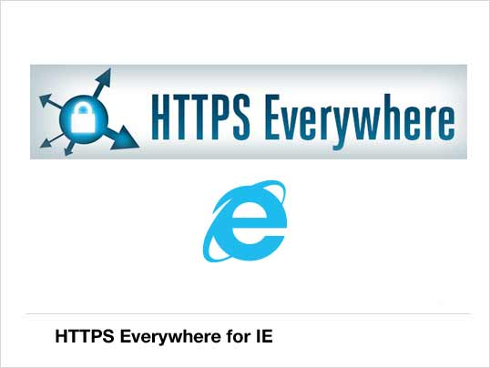 10 - HTTPS Everywhere for IE