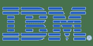 The logo for IBM.